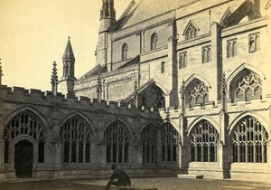 United Kingdom Worcester Cathedral Old CDV Photo Bedford 1865