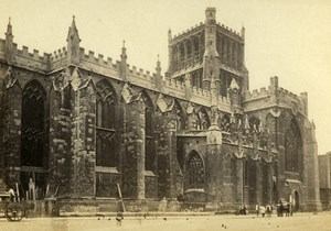 United Kingdom Bristol Cathedral Old CDV Photo Bedford 1865
