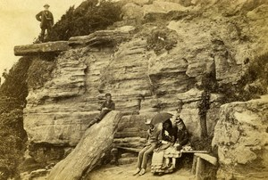 United Kingdom Sussex Hastings Lovers Seat Old CDV Photo Mann 1865