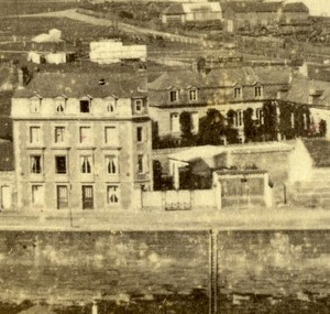 France Dieppe Panorama Old CDV Photo Neurdein 1865
