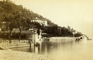 Italy Lombardy Lake Como Villa Carlotta Old CDV Photo Degoix 1865