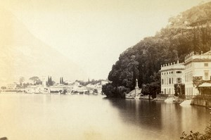 Italy Lombardy Lake Como Villa Taverna Old CDV Photo Degoix 1865