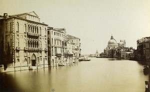 Italy Venezia Grande Canale Old CDV Photo Naya 1865