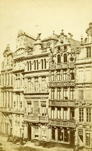 Belgium Brussels Grand Place Old CDV Photo Cerf 1865