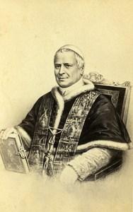 France Paris Catholic Religion Pope Pius IX CDV Photo of Gravure Jacotin 1865