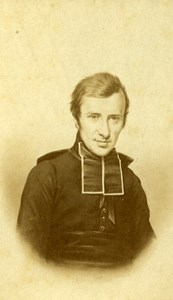 France Paris Catholic Religion Abbe Lammenais Old CDV Photo Thomassin 1865