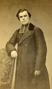 France Paris Catholic Religion Jean Marie Becel Old CDV Photo Petit 1865