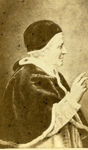 France Paris Catholic Religion Pope Pie IX Old CDV Photo Anonymous 1865
