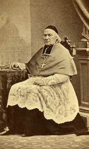 France Paris Catholic Religion Philippe Gerbet Old CDV Photo Tolra 1865