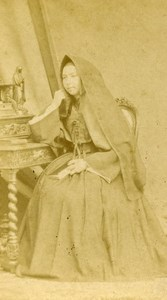 France Toulouse Religion Nun Old CDV Photo Provost 1875