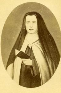 France Paris Catholic Religion Dorothee Quoniam Old CDV Photo Crillon 1865