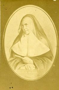 France Catholic Religion Emilie de Rodat Old CDV Photo Anonymous 1865