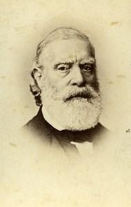 France Paris François Vincent Raspail Scientist Old CDV Photo Anonymous 1865
