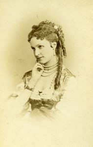 France Paris Duchess of Newcastle Old CDV Photo Reutlinger 1865