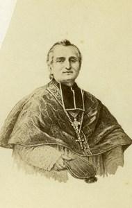 France Paris Bishop Felilx Dupanloup Old CDV Photo Anonymous 1865