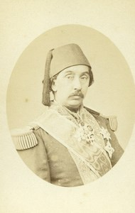 France Paris Ali Cherif Pacha Politicien Old CDV Photo Mathieu-Deroche 1865
