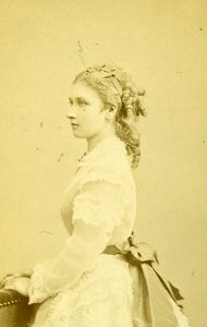 France Paris Princess Louise Old CDV Photo Levitsky 1865