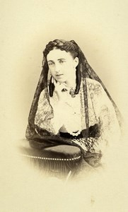 France Nice Marchioness of Pruns d Apchier Old CDV Photo Silli 1865