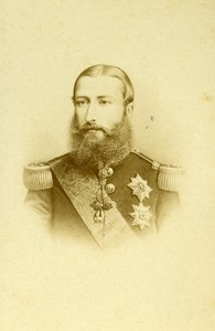 Belgium Brussels King Leopold II Old CDV Photo Ghemar 1865