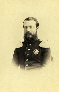 Grand Duke of Bade Frederic I Old CDV Photo Schulmann 1865