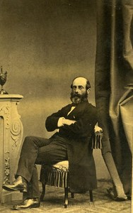 France Minister Eugene Caillaux Old CDV Photo Gustave 1865