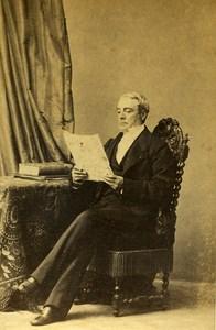 France Mayenne Figure Thomas Jules Metivier Old CDV Photo Disderi 1865