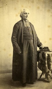 France Jean Dours Bishop of Soissons Old CDV Photo Anonymous 1865