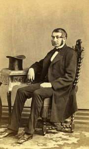 France Angers Figure Avocat Victor Fournier Old CDV Photo Piallat 1865