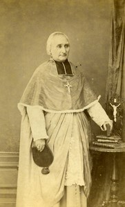 France Saint Quentin Bishop Jean Dours Old CDV Photo Hendricks 1865