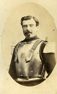 France Abbeville Commandant Dunois Old CDV Photo Caudron 1865