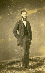 France Mayenne Figure Laval Paul Bernard Dutreil Old CDV Photo Anonymous 1865
