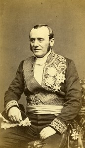 France Minister Adolphe Billault Old CDV Photo Anonymous 1865