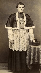 France Mayenne Figure Laval Abbe Lebrelm Old CDV Photo Lebrun 1865