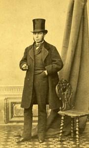 France Mayenne Figure Nantes Lazare Garreau Old CDV Photo Auguste 1865