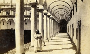 Italy Napoli Cloister of San Martino Old CDV Photo Sommer 1870