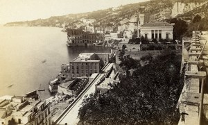 Italy Napoli Panorama Old CDV Photo Sommer 1870