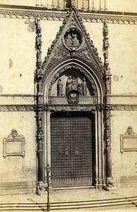 Italy Napoli Il Duomo Old CDV Photo Sommer 1870