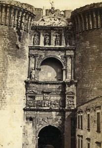 Italy Napoli Porta d Aragone Old CDV Photo Sommer 1870