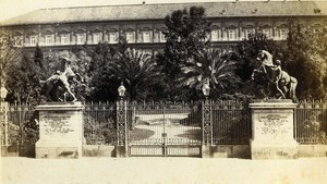 Italy Napoli Cavalli di Bronzi Old CDV Photo Sommer 1870