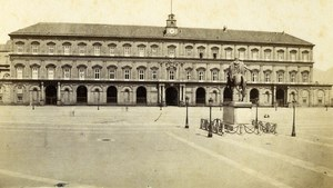 Italy Napoli Royal Palace Palazzo Reale Old CDV Photo Sommer 1870