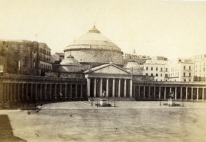 Italy Napoli San Francisco di Paola Church Old CDV Photo Rive 1870