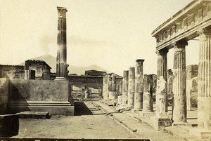 Italy Napoli Pompeii Temple of Venere Old CDV Photo Rive 1870