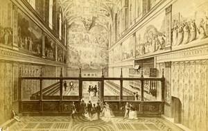 Italy Roma Vatican Chapel Sixtine Old CDV Photo Verzaschi 1870