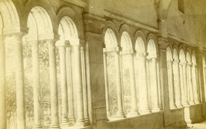 Italy Roma Cloister of San Paolo Old CDV Photo 1870