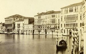 Italy Venezia Grand Canale Old CDV Photo Ponti 1870