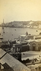 Italy Genova Panorama Old CDV Photo Degoix 1870