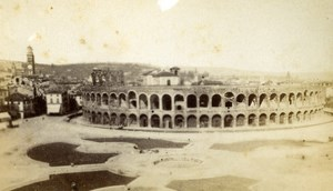 Italy Veron Arena Old CDV Photo Hogdend 1870