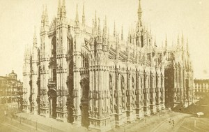 Italy Milano Cathedral Old CDV Photo Crespi 1870