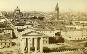 Italy Milano Panorama Old CDV Photo Brogi 1870