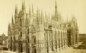 Italy Milano Cathedral Old CDV Photo Brogi 1870
